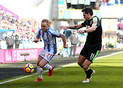 Alex Pritchard of Huddersfield Town takes on Charlie Daniels of Bournemouth - Mandatory by-line: Robbie Stephenson/JMP - 11/02/2018 - FOOTBALL - The John Smith's Stadium - Huddersfield, England - Huddersfield Town v Bournemouth - Premier League