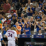 NEW YORK, NEW YORK - June 15: Pitcher Noah Syndergaard #34 of the New York Mets leaves the field after the eighth inning to applause from New York Mets fans during the Pittsburgh Pirates Vs New York Mets regular season MLB game at Citi Field on June 15, 2016 in New York City. (Photo by Tim Clayton/Corbis via Getty Images)