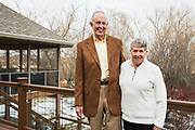 Dr. Ernest Borden and his wife, Louise -- both alumni of Duke University -- are pictured outside their home near Sun Prairie, Wis., on Feb. 23, 2018. Ernest Borden graduated from Duke with an MD in 1966. Louise graduated from Duke with a BSM in 1963. (Photo by Jeff Miller - www.jeffmillerphotography.com)