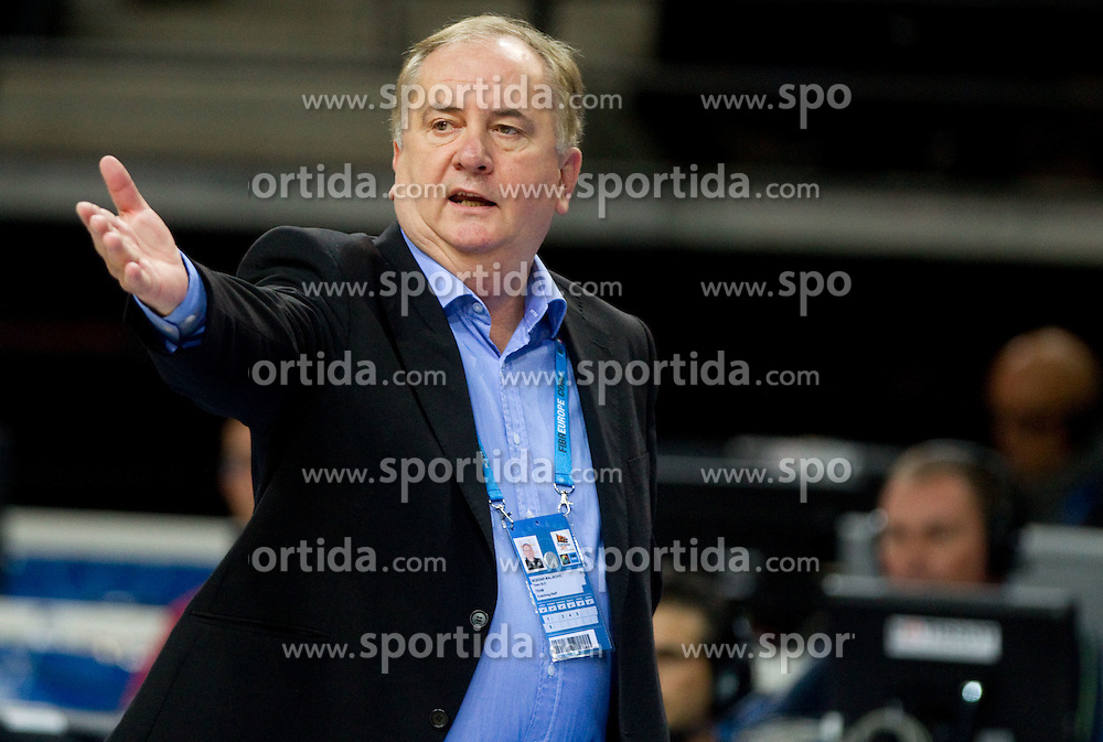 Bozidar Maljkovic, coach of Slovenia during basketball game between National basketball teams of Slovenia and Serbia in 7th place game of FIBA Europe Eurobasket Lithuania 2011, on September 17, 2011, in Arena Zalgirio, Kaunas, Lithuania. Slovenia defeated Serbia 72 - 68 and placed 7th. (Photo by Vid Ponikvar / Sportida)