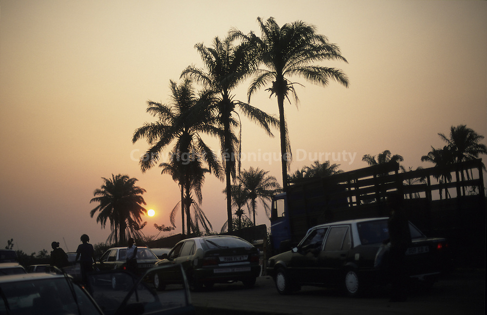 TRAFFICJAM IN BRAZZAVILLE, CONGO