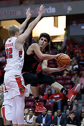 05 November 2017:  Jake Reinhart finds Taylor Bruninga under the hoop and passes off during aLewis College Flyers and Illinois State Redbirds in Redbird Arena, Normal IL