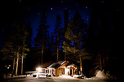 The cross-country skiing cabin at Tamarack Lodge in Mammoth Lakes, Calif., January 27, 2011.
