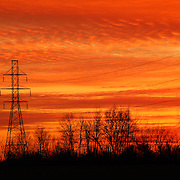 """Sunset in Electric Orange""<br />