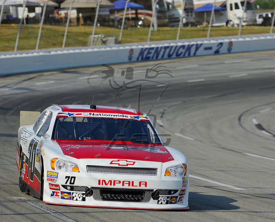Sparta, KY - JUN 29, 2012: Johanna Long (70) during the final practice for the Feed the Children 300 at the Kentucky Speedway in Sparta, KY.