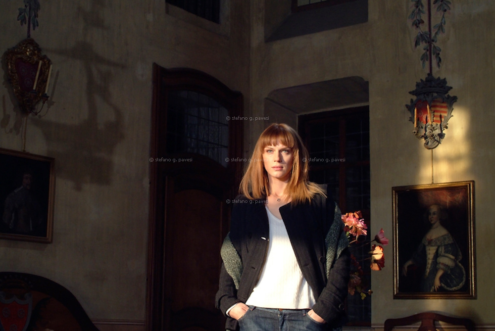 Actress Antonia Liskova <br /> onset of Rai movie &quot;Zodiaco&quot; at Castello di Guarene
