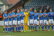 Rochdale players remember Ray Wilkins during the EFL Sky Bet League 1 match between Rochdale and Portsmouth at Spotland, Rochdale, England on 7 April 2018. Picture by Daniel Youngs.