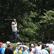 Angel Cabrera, Argentina,  tees off from the second hole during the fourth round of theThe Barclays Golf Tournament at The Ridgewood Country Club, Paramus, New Jersey, USA. 24th August 2014. Photo Tim Clayton