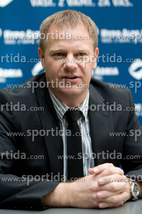 Tomaz Krajncic of Hypo Alpe Adria at press conference of Slovenian athlete Matic Osovnikar, on June 21, 2011, in Rotonda, Ljubljana, Slovenia. (Photo by Vid Ponikvar / Sportida)