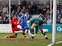 Photo: Richard Lane/Richard Lane Photography. <br /> Colchester United v Coventry City. Coca Cola Championship. 19/04/2008. City's Leon Best (lt) watches his shot go in for a goal.