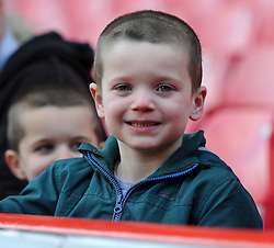Spectator at the UEFA Women's Champions League match between Bristol Academy Women and FFC Frankfurt at Ashton Gate on 21 March 2015 in Bristol, England - Photo mandatory by-line: Paul Knight/JMP - Mobile: 07966 386802 - 21/03/2015 - SPORT - Football - Bristol - Ashton Gate Stadium - Bristol Academy v FFC Frankfurt - UEFA Women's Champions League