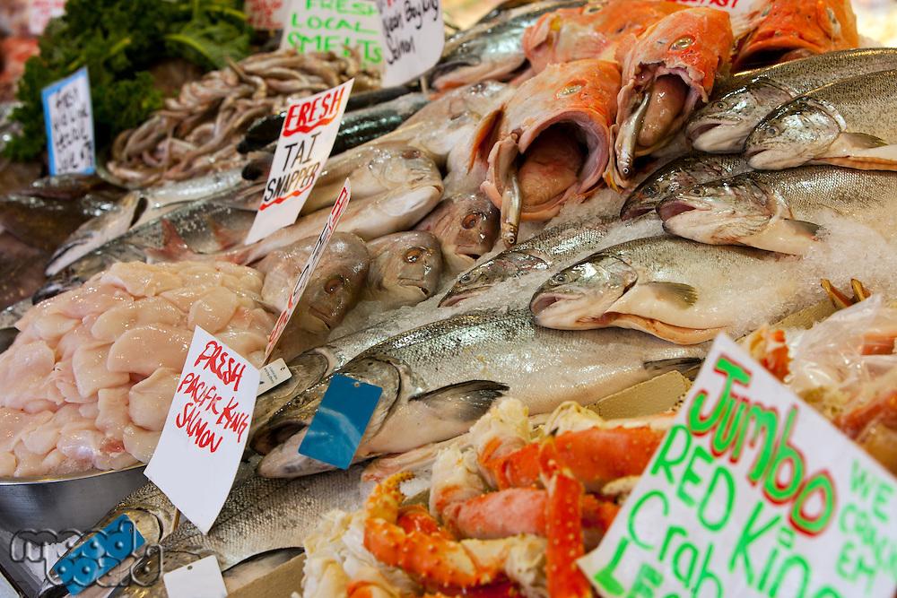 Fish on display at fish market