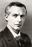 Bela Viktor Janos Bartok (1881-1845) Hungarian composer and pianist, and collector of Eastern European and Middle Eastern folk music. Halftone after a photograph.