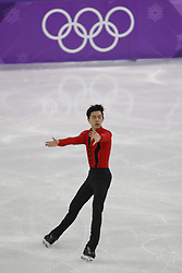 February 17, 2018 - Pyeongchang, KOREA - Vincent Zhou of the United States competes in the men's figure skating free skate program during the Pyeongchang 2018 Olympic Winter Games at Gangneung Ice Arena. (Credit Image: © David McIntyre via ZUMA Wire)