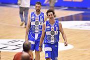 DESCRIZIONE : Milano Lega A 2014-15 EA7 Emporio Armani Milano vs Banco di Sardegna Sassari playoff Semifinale gara 7 <br /> GIOCATORE : Manuel Vannuzzo Giacomo De Vecchi<br /> CATEGORIA : esultanza postgame<br /> SQUADRA : Banco di Sardegna Sassari<br /> EVENTO : PlayOff Semifinale gara 7<br /> GARA : EA7 Emporio Armani Milano vs Banco di Sardegna SassariPlayOff Semifinale Gara 7<br /> DATA : 10/06/2015 <br /> SPORT : Pallacanestro <br /> AUTORE : Agenzia Ciamillo-Castoria/GiulioCiamillo<br /> Galleria : Lega Basket A 2014-2015 Fotonotizia : Milano Lega A 2014-15 EA7 Emporio Armani Milano vs Banco di Sardegna Sassari playoff Semifinale  gara 7 Predefinita :