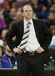 November 27, 2009; Sacramento, CA, USA;  New Jersey Nets head coach Lawrence Frank during the first quarter against the Sacramento Kings at the ARCO Arena. Sacramento defeated New Jersey 109-96.