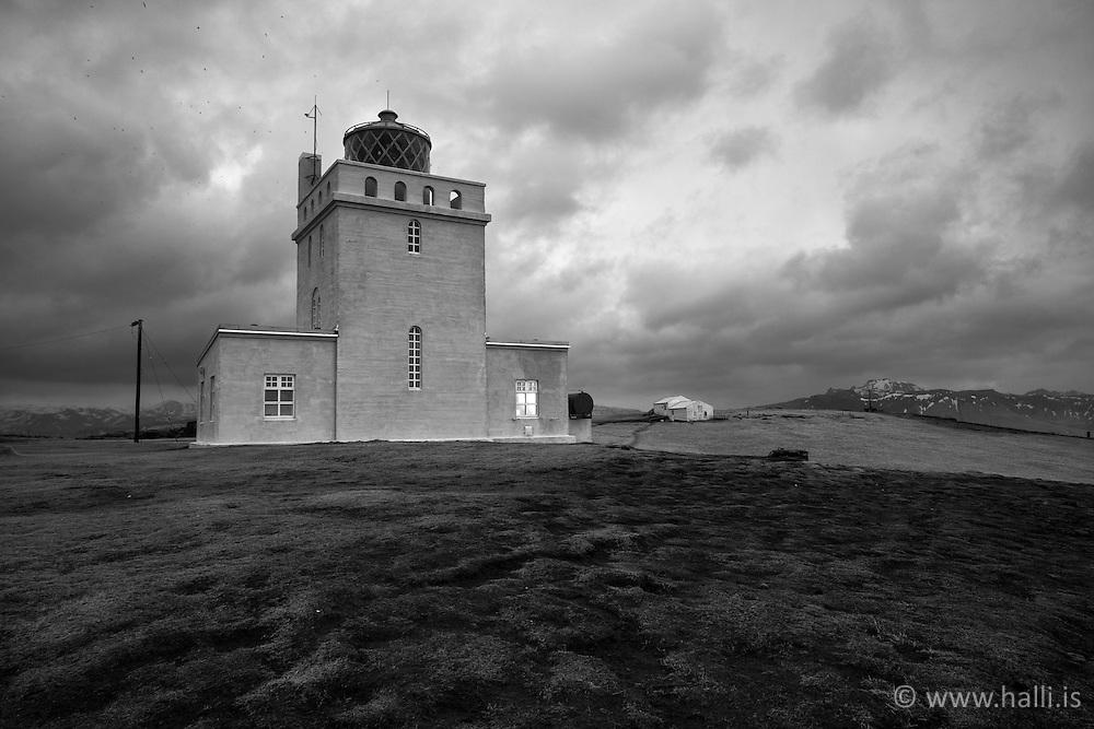 The lighthouse at Dyrholaey, Iceland- Dyrhólaey, vitinn