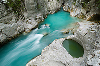River Lepenjica, pothole<br /> Triglav National Park, Slovenia<br /> June 2009