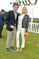 CEM & CAROLINE HABIB at the Cartier Queen's Cup Polo final at Guard's Polo Club, Smiths Lawn, Windsor Great Park, Egham, Surrey on 14th June 2015