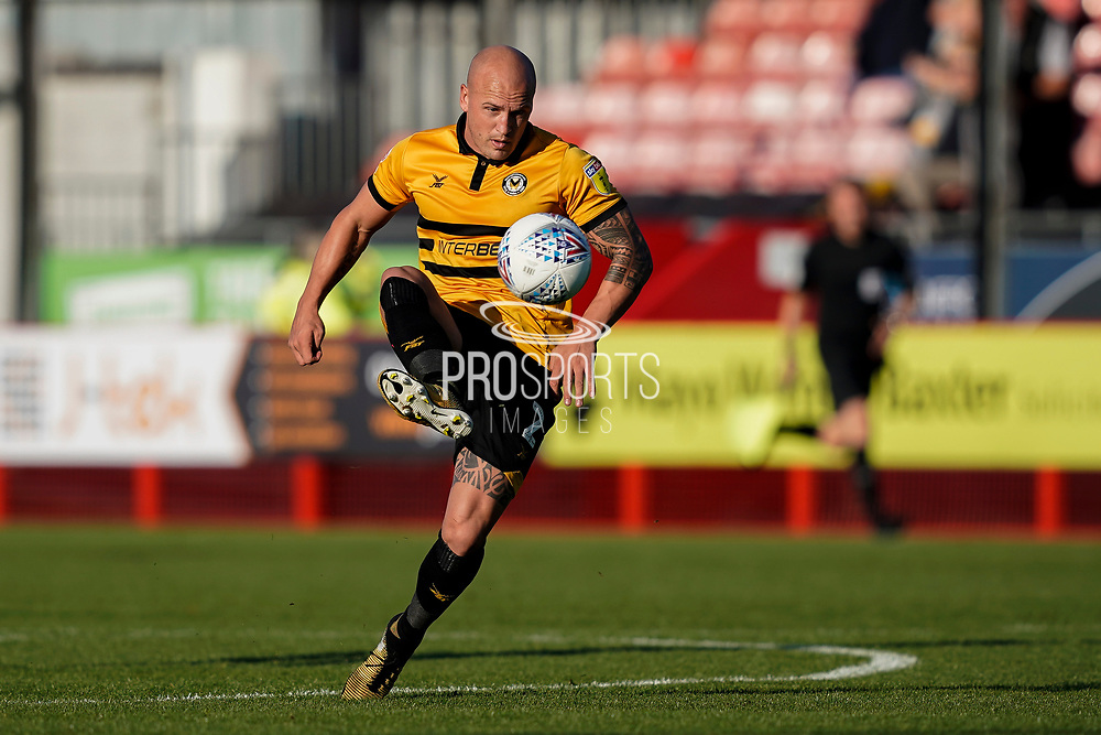 David Pipe of Newport County in action during the EFL Sky Bet League 2 match between Crawley Town and Newport County at the Broadfield Stadium, Crawley, England on 20 October 2018.