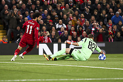 October 24, 2018 - Liverpool, England, United Kingdom - Crvena Zvezda goalkeeper Milan Borjan (82) dives for the ball during the Uefa Champions League Group Stage football match n.3 LIVERPOOL - CRVENA ZVEZDA on 24/10/2018 at the Anfield Road in Liverpool, England. (Credit Image: © Matteo Bottanelli/NurPhoto via ZUMA Press)