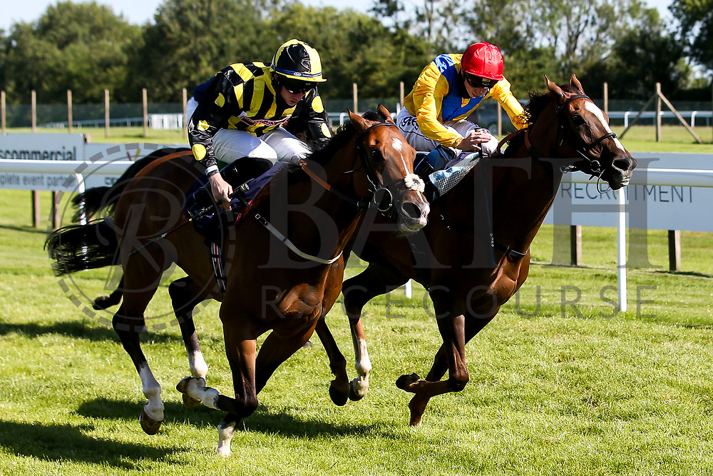 Derry Boy ridden by Rossa Ryan trained by David Evans wins the Visit Valuerater.co.uk Handicap ahead of Quemonda ridden by David Probert trained by Paul & Oliver Cole - Mandatory by-line: Robbie Stephenson/JMP - 22/07/2020 - HORSE RACING - Bath Racecoure - Bath, England - Bath Races