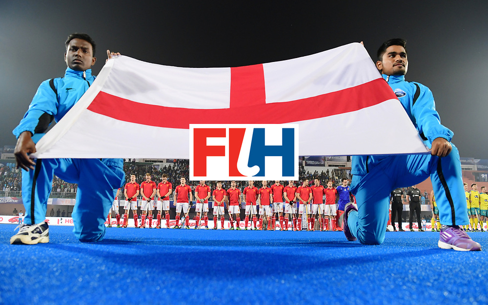 Odisha Men's Hockey World League Final Bhubaneswar 2017<br /> Match id:09<br /> Australia v England<br /> Foto: Line Up<br /> WORLDSPORTPICS COPYRIGHT FRANK UIJLENBROEK