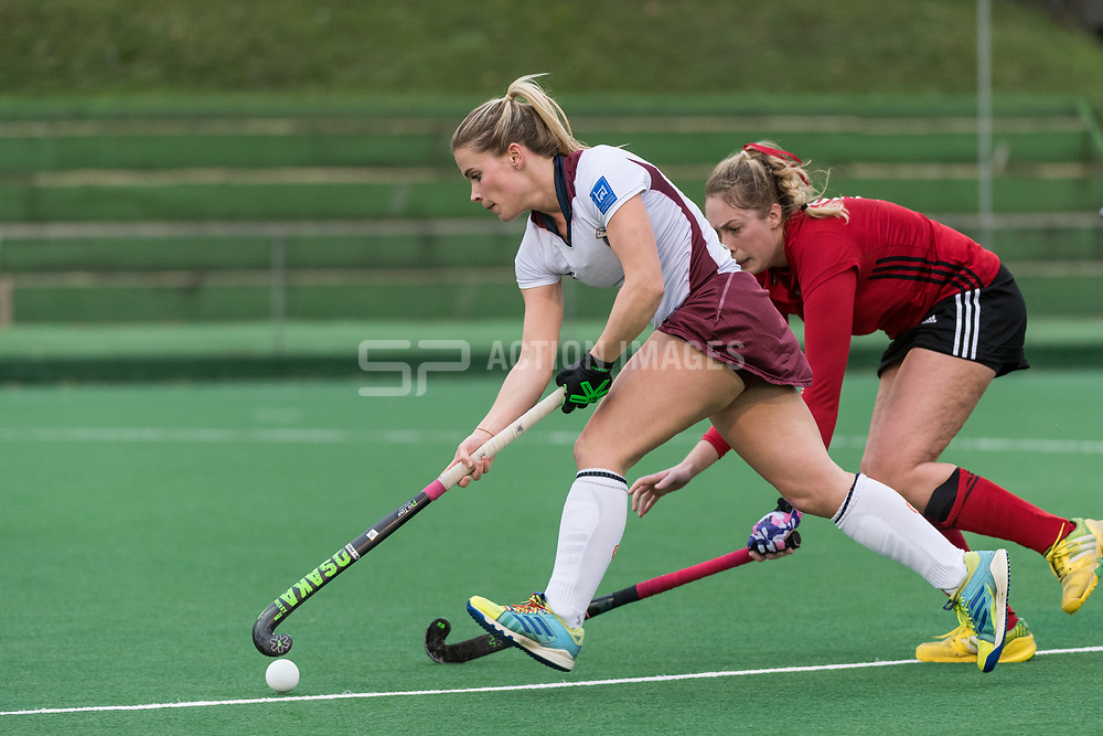 Wimbledon's Mairi Drummond. Southgate v Wimbledon - Investec Women's Hockey League East Conference, Trent Park, London, UK on 25November 2017. Photo: Simon Parker