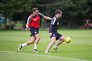 Dundee&rsquo;s Paul McGowan and Tom Hateley -  Dundee FC - Pre-season training at University Grounds, Riverside, Dundee, Photo: David Young<br /> <br />  - &copy; David Young - www.davidyoungphoto.co.uk - email: davidyoungphoto@gmail.com