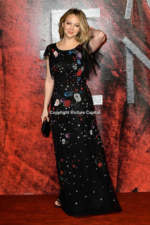 Sophie Cox Arrivers at the Mortal Engines - World Premiere on 27 November 2018, London, UK