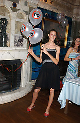CHARLOTTE WHEELER daugher of Stuart Wheeler and sister of model Jacquetta Wheeler at the No Campaign's Summer Party - a celebration of the 'Non' and 'Nee' votes in the Europen referendum in France and The Netherlands held at The Peacock House, 8 Addison Road, London W14 on 5th July 2005.<br />