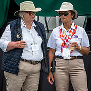 FEI Stewards at the end of competition, Jan Stephens (CAN) and Frances McAvity (CAN) at the Red Hills International Horse Trials in Tallahassee, Florida.