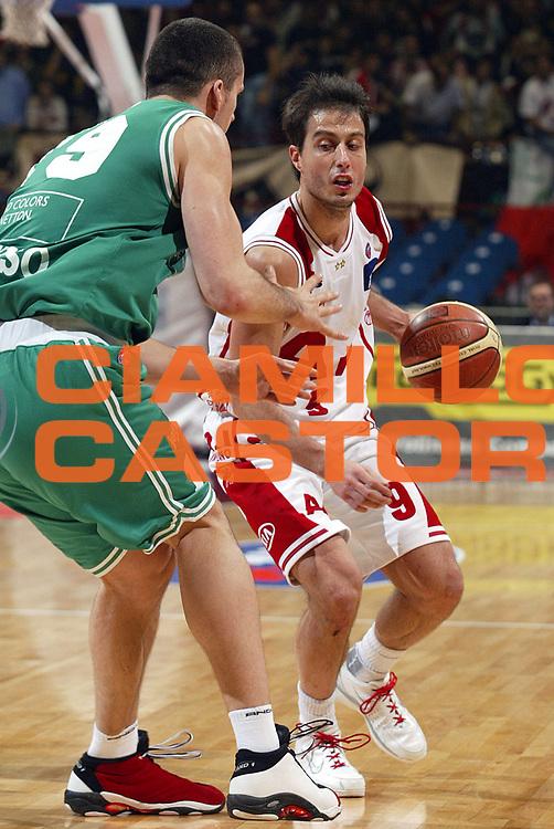 DESCRIZIONE : Milano Lega A1 2005-06 Armani Jeans Milano Benetton Treviso<br />GIOCATORE : Bulleri<br />SQUADRA : Armani Jeans Milano<br />EVENTO : Campionato Lega A1 2005-2006<br />GARA : Armani Jeans Milano Benetton Treviso<br />DATA : 27/11/2005<br />CATEGORIA : Palleggio<br />SPORT : Pallacanestro<br />AUTORE : Agenzia Ciamillo-Castoria/S.Ceretti