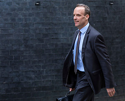 © Licensed to London News Pictures. 10/07/2018. London, UK. Secretary of State for Exiting the European Union Dominic Raab arrives on Downing Street for the Cabinet meeting. Photo credit: Rob Pinney/LNP