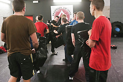 The Institute of Krav Maga Scotland Glasgow (City Centre - Monday) Krav Maga Class at Battlefield Gym..Pic © Michael Schofield.