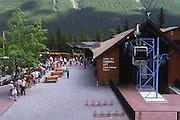 Sulphur Mt. gondola, people waiting; Banff National Park; Alberta; Canada