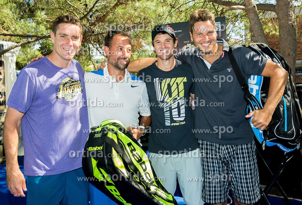 Gregor Krusic, Alen Horvat, Blaz Kavcic and Tadej Smole after the Petrol VIP tournament at ATP Challenger Tilia Slovenia Open 2016, on August 6, 2016 in Portoroz/Portorose, Slovenia. Photo by Vid Ponikvar / Sportida