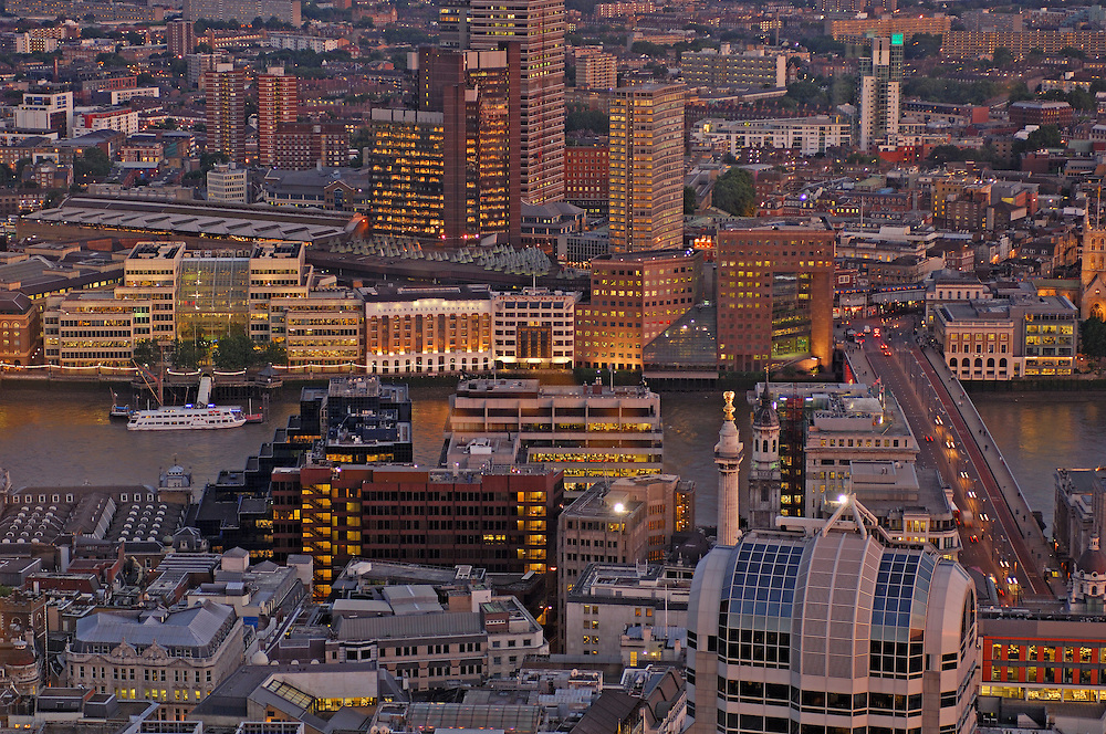 view from Vertigo 42, City, London, Great Britain, UK