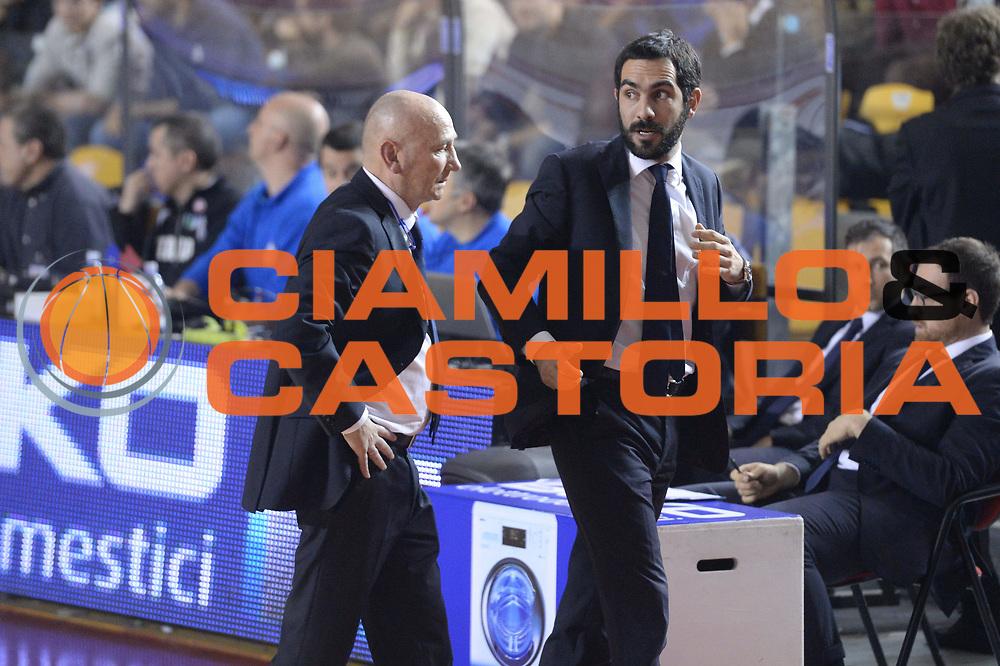 DESCRIZIONE : Campionato 2013/14 Acea Virtus Roma - Sidigas Avellino<br /> GIOCATORE : Luca Dalmonte Federico Fuca'<br /> CATEGORIA : Allenatore Coach<br /> SQUADRA : Acea Virtus Roma<br /> EVENTO : LegaBasket Serie A Beko 2013/2014<br /> GARA : Acea Virtus Roma - Sidigas Avellino<br /> DATA : 02/02/2014<br /> SPORT : Pallacanestro <br /> AUTORE : Agenzia Ciamillo-Castoria / GiulioCiamillo<br /> Galleria : LegaBasket Serie A Beko 2013/2014<br /> Fotonotizia : Campionato 2013/14 Acea Virtus Roma - Sidigas Avellino<br /> Predefinita :