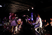 "Photos from Night 2 of the 6th year of An Under Cover Weekend at The Firebird in Saint Louis, Missouri. Arthur And The Librarian as Simon & Garfunkel, First To Show Last To Go as Neil Young, Palace as ABBA, Dots Not Feather as Michael Jackson, and Via Dove (with a little help from Robb Steele as Run DMC) as Aerosmith. ""Fuck factory farms"" the sold out crowd agreed."