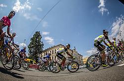 Cotar Luka of Sava Kranj  and Groselj Matic of Sava Kranj  during cycling race 48th Grand Prix of Kranj 2016 / Memorial of Filip Majcen, on July 31, 2016 in Kranj centre, Slovenia. Photo by Vid Ponikvar / Sportida