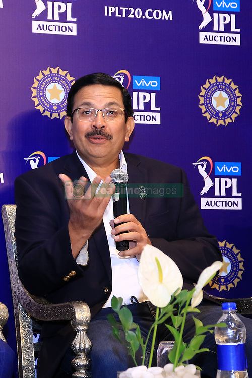 December 18, 2018 - Jaipur, Rajasthan, India - CEO Kolkata Knight Riders (KKR) Venky Mysore speak at a press conference for the Indian Premier League 2019 auction in Jaipur on December 18, 2018, as teams prepare their player rosters ahead of the upcoming Twenty20 cricket tournament next year. The 2019 edition of the IPL -- one of the world's most-watched sporting events attracting the world's top stars -- is set to take place in April and May next year.(Photo By Vishal Bhatnagar/NurPhoto) (Credit Image: © Vishal Bhatnagar/NurPhoto via ZUMA Press)