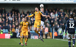 Steve Morison of Millwall wins a header - Mandatory by-line: Arron Gent/JMP - 17/03/2019 - FOOTBALL - The Den - London, England - Millwall v Brighton and Hove Albion - Emirates FA Cup Quarter Final