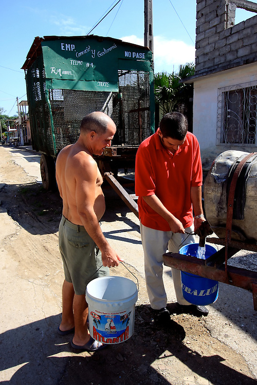 Drinking water in Cruces, Cienfuegos Province, Cuba.