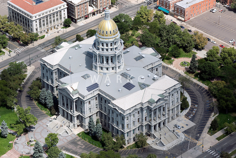 Colorado State Capital, aerial view