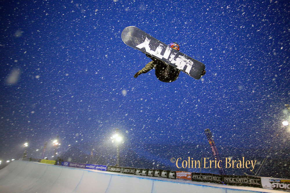 Zachary Black competes in the U.S. Snowboarding Grand Prix finals, Saturday, Jan. 23, 2010, in Park City, Utah. (AP Photo/Colin E Braley).