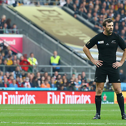 LONDON, ENGLAND - OCTOBER 31: Conrad Smith of New Zealand during the Rugby World Cup Final match between New Zealand vs Australia Final, Twickenham, London on October 31, 2015 in London, England. (Photo by Steve Haag)