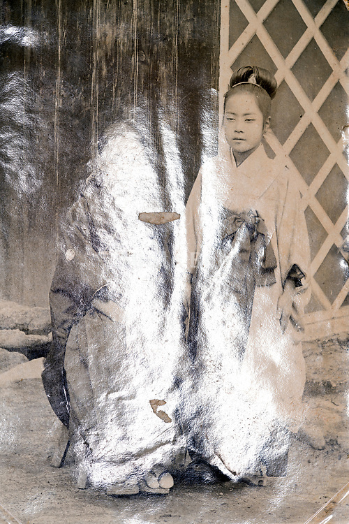 portrait with surface reflection Japan ca 1930s
