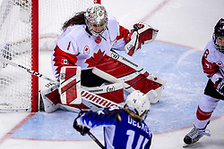 22-02-2018 KOR: Olympic Games day 13, PyeongChang<br /> Final Ice Hockey Canada - USA 2-3 / Shannon Szabados #1 of Canada, Brianna Decker #14 of the United States