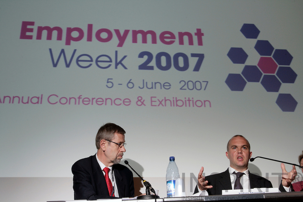 BRUSSELS - BELGIUM - 05 JUNE 2007 -- Employment Week 2007 -- From left Jukka TAKALA, Director, European Agency for Safety and Health at Work and John HURLEY, Research Officer, Working Conditions, European Foundation for the Improvement of Living and Working Conditions. Photo: Erik Luntang/INSPIRIT Photo